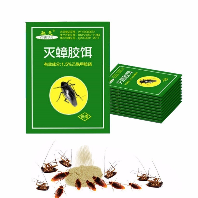 50Pcs Very Effective Killing Cockroach Bait Powder Cockroach Repeller Insect Roach Killer Anti Pest Control Pest Reject Trap-in Baits & Lures from Home & Garden
