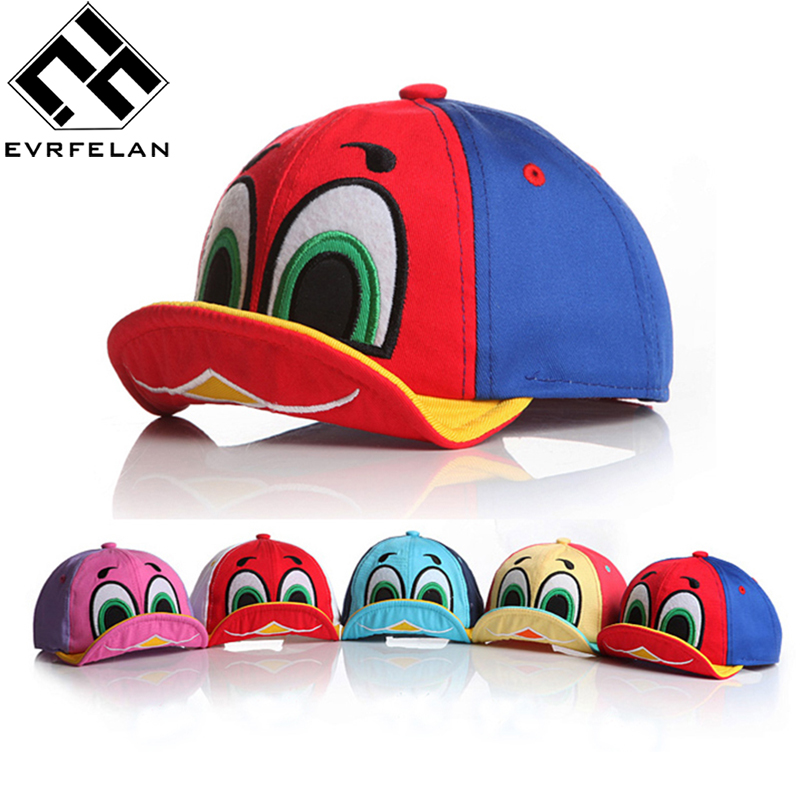 2017 New Cute Duck Design Baby Baseball Cap For Boys Girls Sun Hat Kid Hat Summer Hat Children Snapback Cap Outdoor Sports