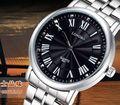 Relojes 2016 Original Marca LONGBO Roman Dial Dress Watch Dos Homens Relógio de Quartzo Moda de Luxo de Qualidade relógios de Pulso de Aço Inoxidável