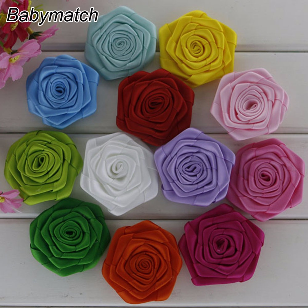 Babymatch 1000pcs lot Kids Hair Accessory Headwear Rose Flowers Decoration For Garment Accessories 19 Color Is