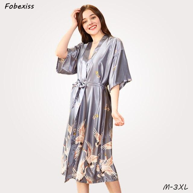 watch 90a33 26312 Frauen Bademantel Sexy Damen Nachtwäsche Faux Seide Robes Frau Mantel Plus  Größe Pyjamas frauen Sommer Kimono Dame Braut Bad kleid