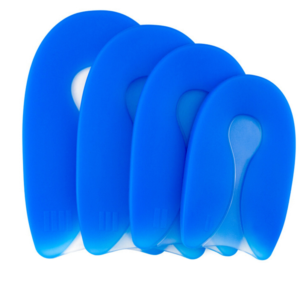 1pair 100% Silicone Gel U-shape Heel Protector Heel Spur Pad Shoe Insole For Men Women 4 Sizes Numerous In Variety