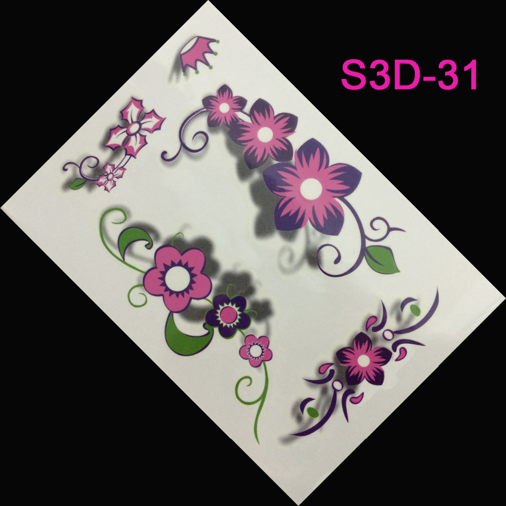 achetez en gros rose fleur tatouages en ligne des grossistes rose fleur tatouages chinois. Black Bedroom Furniture Sets. Home Design Ideas