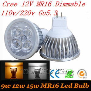 LED Spotlight GU10 GU5.3 E27 MR16 Dimmable Bulb 220V 110V 12V Led Spot Light 3W 4W 5W 9W 12W 15W Aluminum Home Lamparas Led Lamp