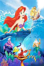 The Little Mermaid Poster Little Mermaid Princess Wall Stickers Fairy Tale  Wallpaper Mural Kids Christmas Home Decoration #2575# Part 64