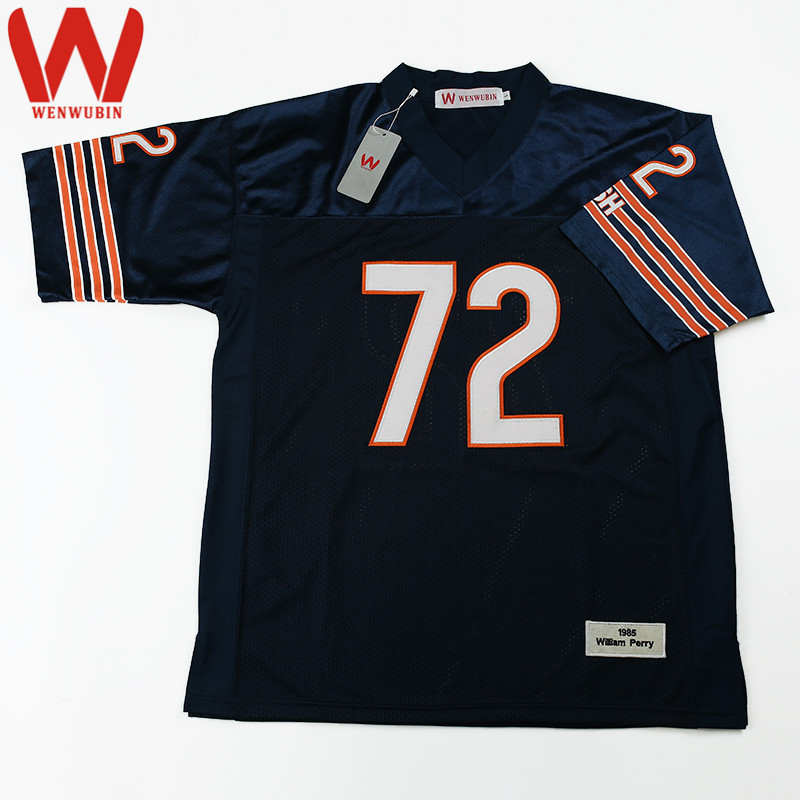 half off 7ed2c 019d0 mens chicago bears 72 william perry white retired player nfl ...