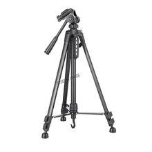 140 cm/55in Professional mini Tripé suporte para Câmera tripé WF-3520 Preto tripe extensor parágrafo foto com alça bola-cabeça