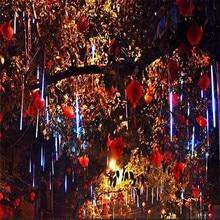 50 см 240 светодиодный Метеоритный дождь Дождь трубка светодиодный светильник на Рождество Свадебная вечеринка сад Рождественский струнный светильник Открытый праздничный светильник ing 100-240 В