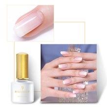 BORN PRETTY Opal Jelly Gel Nail Polish White Pink 6ML Soak Off UV Manicure Semi-transparent Art Lacquer