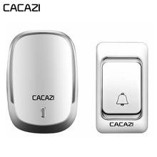 CACAZI Беспроводной дверной звонок DC на батарейках Управление Кнопка 200 м удаленного светодио дный свет Домашний Беспроводной звонок 4 Объем 36 перезвон
