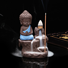 Creative Home Decor The Little Monk Censer Backflow Incense Burner Use In The Home Office Teahouse X1113(China)