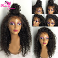 100% Natural Hair Wigs For Black Women Brazilian Kinky Curly Virgin Hair Lace Front Human Hair Wig With Baby Hair Full Lace Wig