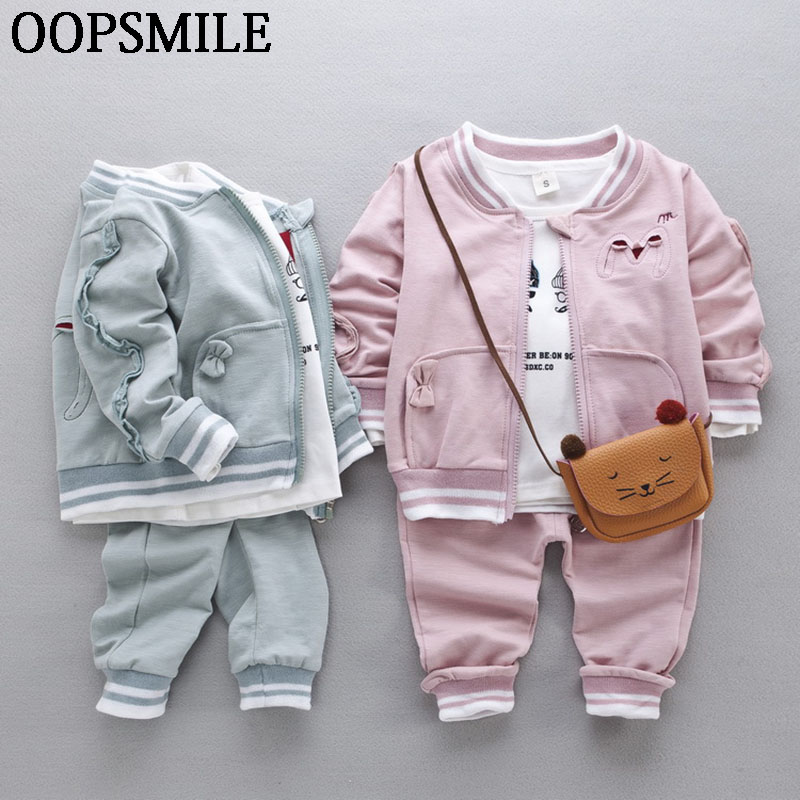 2017 Autumn Baby Girls/Boys Clothes Sets Infant Cotton Suits  Zipper Coat+T Shirt+Pants 3Pcs Casual Sport Kids Child Suits replacement repair partshigh quality lcd for asus transformer pad tf101 touch screen digitizer assembly