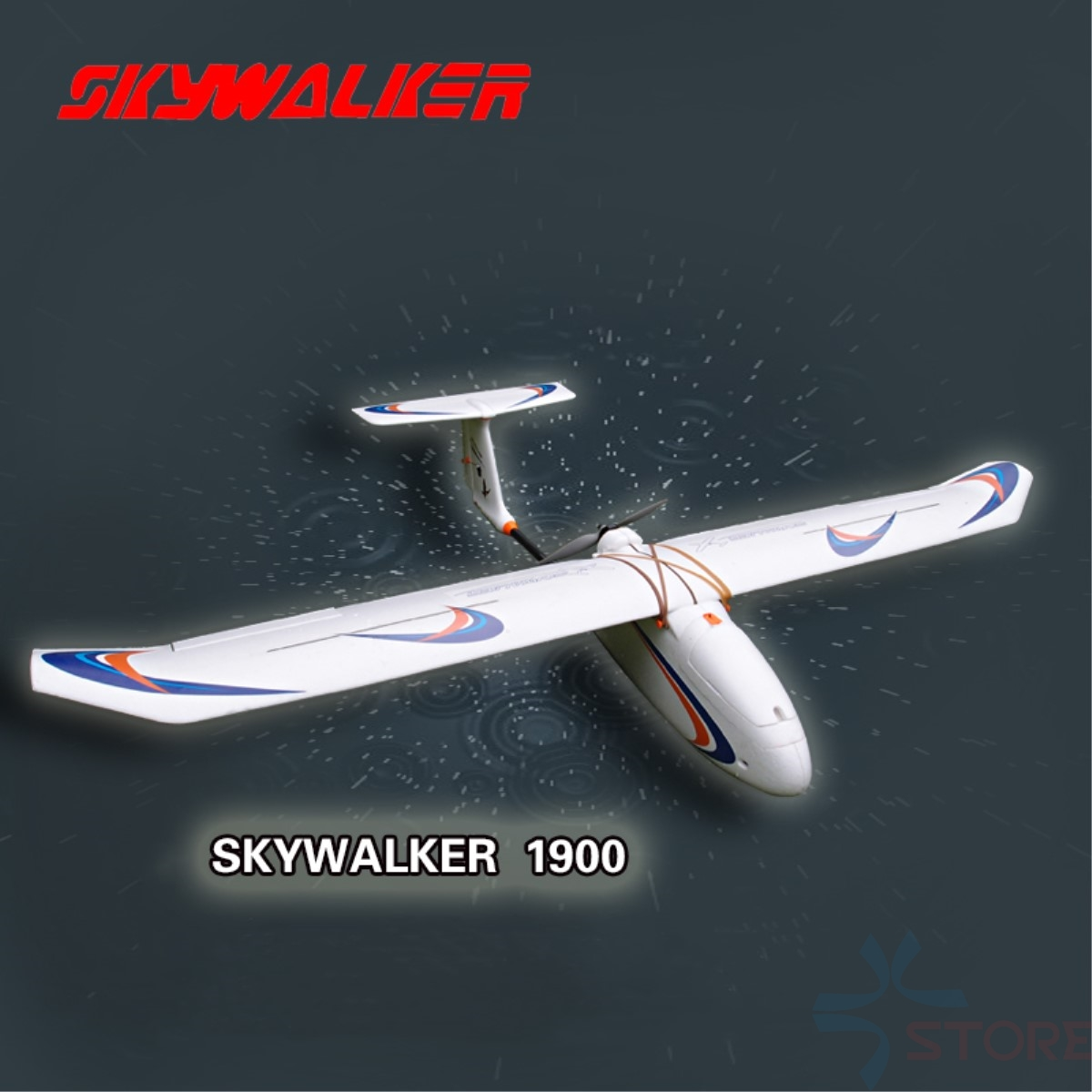 Skywalker airplane 1900 mm carbon fiber tail version Glider white EPO FPV Airplane RC Plane Kit image