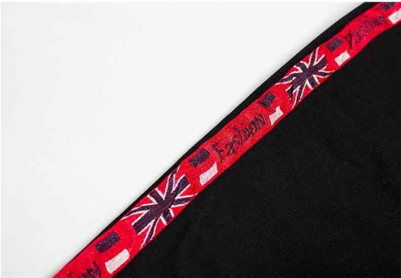 2019 kobiet Sexy Jeans Side podział czarne paski środkowa talia ołówek spodnie duży rozmiar damskie zgrywanie dżinsy dziura spodnie S /3Xl K1035