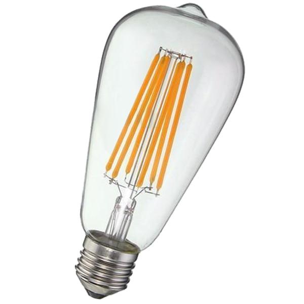 E27 ST64 Screw <font><b>Dimmable</b></font> 8W Vintage <font><b>Edison</b></font> <font><b>LED</b></font> Long Filament Bulb
