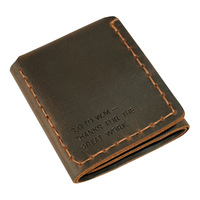 Genuine Real Leather Men Vintage Wallets Crazy Horse Handmade Wallet Purse The Secret Life of Walter Mitty Credit Card Holder