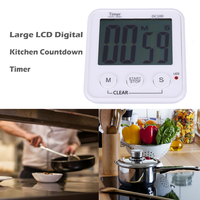 Large LCD Digital Kitchen Cooking Timer Countdown Clock Loud Alarm Magnetic Household Kitchen Timers Tools