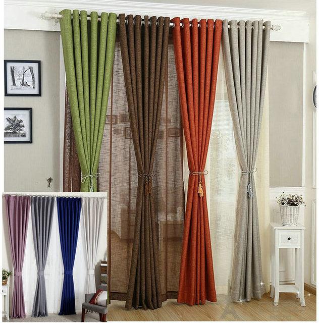 ikea lino tende per il salone cortina di stoffa bianco