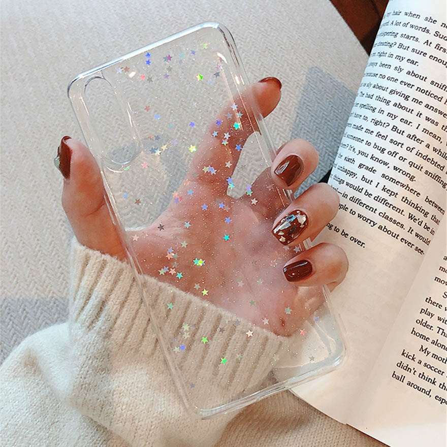 Luxury Clear Glitter Star Case For Huawei P10 Plus P20 P30 Pro Honor 9 10 Lite V10 V20 Mate 20 Nova 2S 3i 3 P Smart 2019 Cover 9