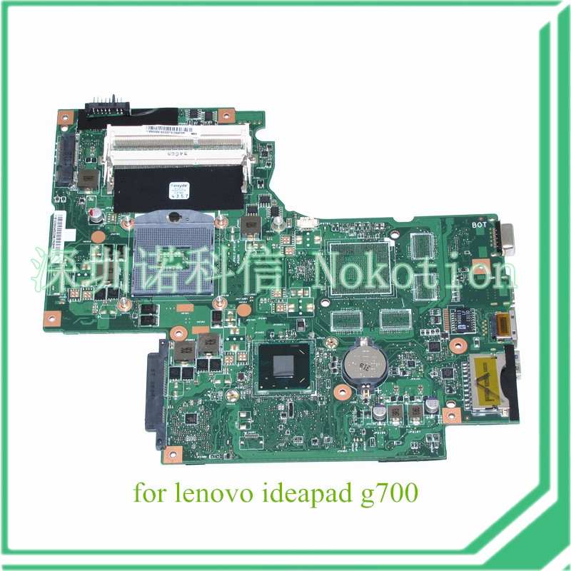 NOKOTION 11S90003140 BAMBI MAIN BOARD rev 2.1 For lenovo ideapad G700 Laptop motherboard 17.3 inch Intel GMA HD HM70 for lenovo thinkpad x200 intel gm45 motherboard 43y9980 48 47q06 031 intel gma x4500