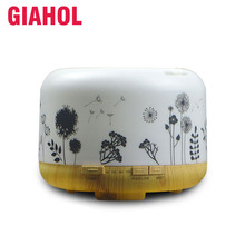 GIAHOL 500ML Essential Oil Aroma Diffuser Ultrasonic Aromatherapy Air Humidifier USB Moistener Atomizer Colorful Lights for home