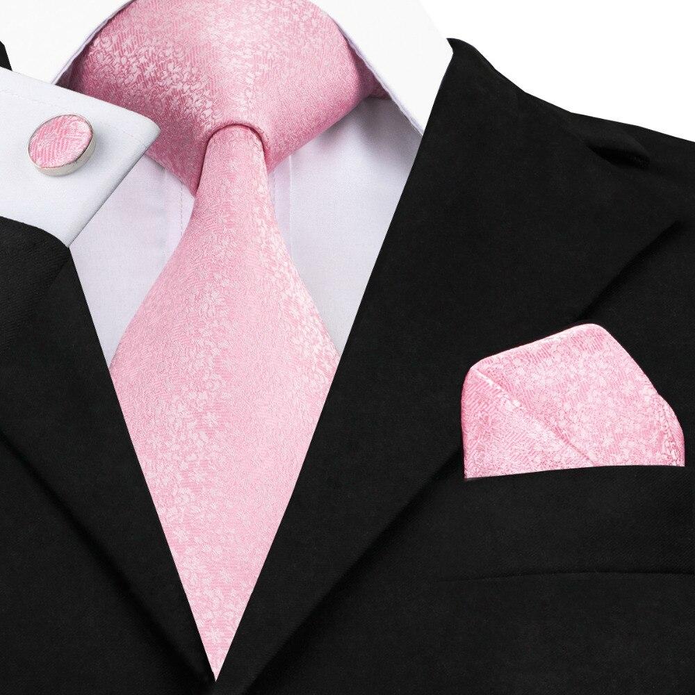C-327 Licht Rosa Weiß Mens Ties Set Romantische Sakura Seidenkrawatten Für Männer Hochzeit Business Krawatte Einstecktuch Manschettenknöpfe 8,5 cm Corbatas