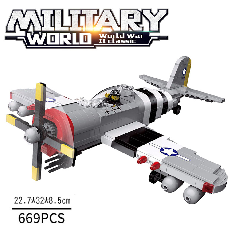 Airplane Model Building Blocks Kits WW2 Army Soldier Figure Helicopter Bricks Toys Gift For Boys Compatible LegoINGlys Military