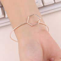 Fashion Gold /Silver color Dreamlike Hypotenuse Bangle for women Men Jewelry Simple Bangle/Bracelet ns83
