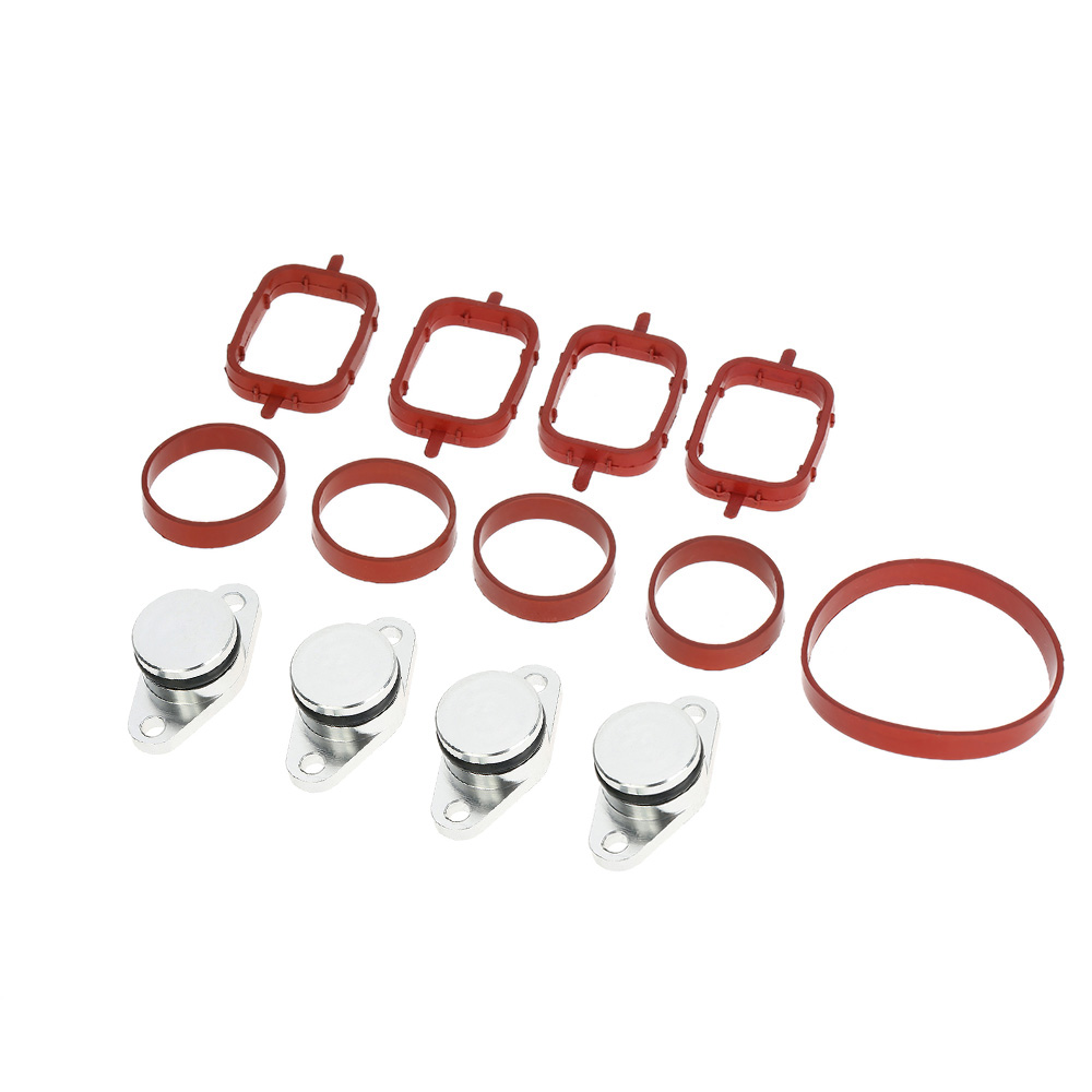 SI A0136 4 PCS 22mm Diesel Swirl Flap Blank Replacement Bungs with Intake Manifold Gaskets for