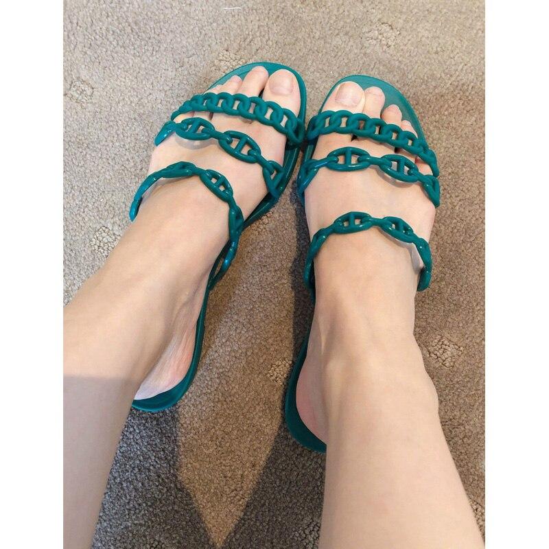 Sandalia Marea Zapatillas Huecos Sandalias Femenina As Marca Al Playa Acogedor Zapatos De Show Casual Libre Nueva Flops Planos Aire Flip Mujer Diapositivas q0CUnx