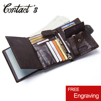 Casual Genuine Leather Wallet Men Passport Holder Coin Purse PORTFOLIO MAN Portomonee Short Wallets Passport Cover Travel Bag
