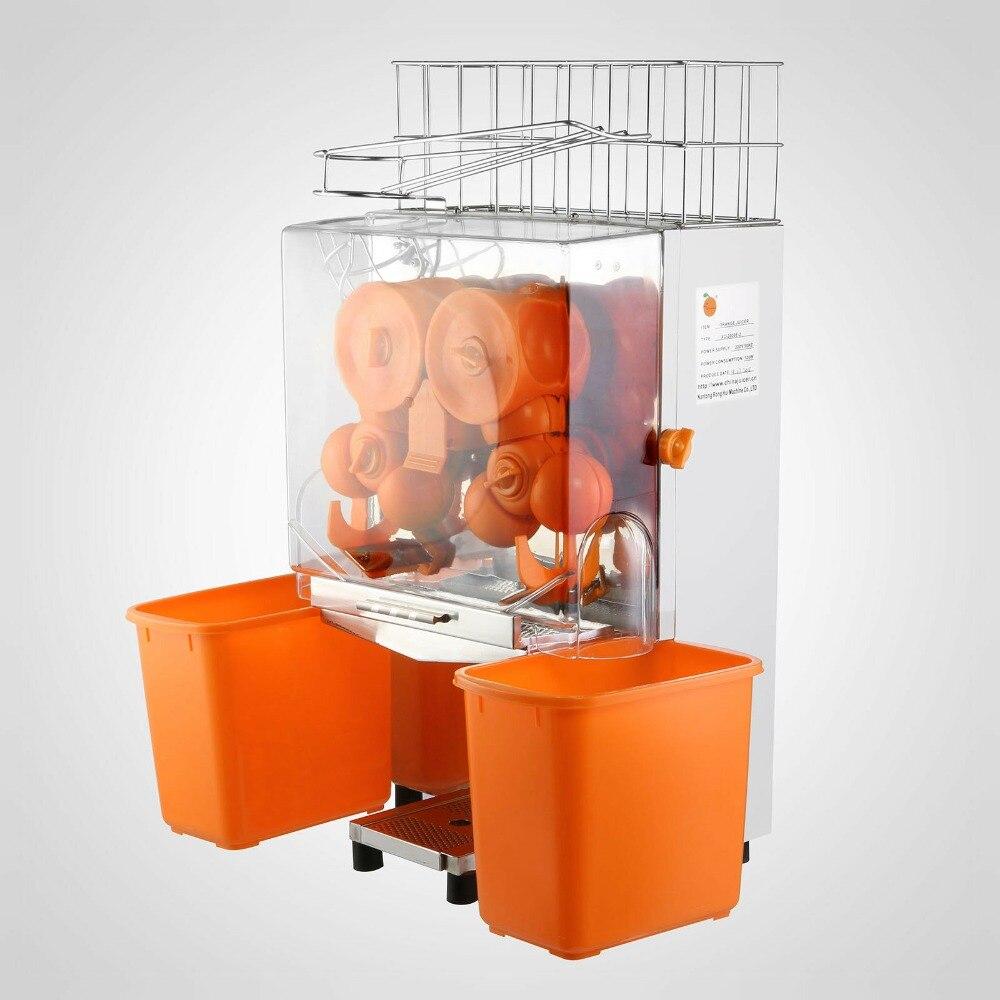 Brillante Máquina Exprimidora De Naranja De 120 W, Granada, Limones, Acero Inoxidable Comercial Y Plástico Para Pc