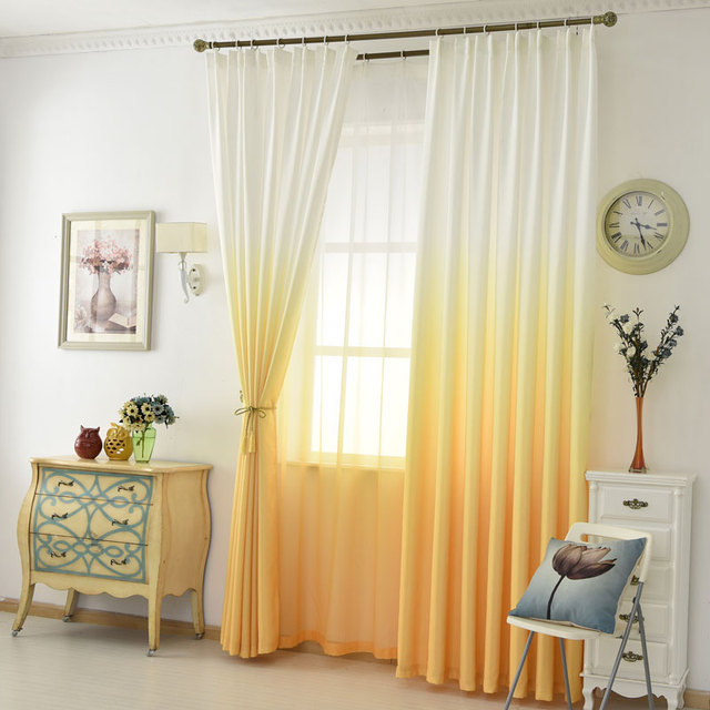 Orange Tulle Trendy Curtains Living Room 3d Print Modern Bedroom Decorations And Sold Separately