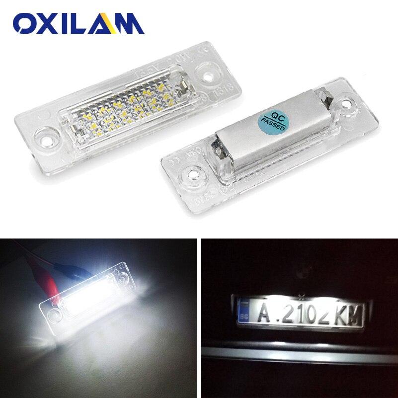 2x Canbus LED Number License Plate Light for VW Volkswagen Touran Jetta Golf Passat Caddy Skoda Superb I