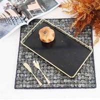 Nordic Metal Glass Storage Tray Gold Iron Makeup Organizer Jewelry Display Decorative Tray Rectangle Desktop Dessert Basket