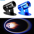 Universal 3D LED Ghost Rider Flaming Skull Logo Laser Projector Motorcycle Spotlight Shadow LED Logo Light
