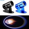 Universal 3D LED Spotlight Motocicleta Ghost Rider Flaming Skull Logo Proyector Láser Sombra LLEVÓ la Luz de Insignia