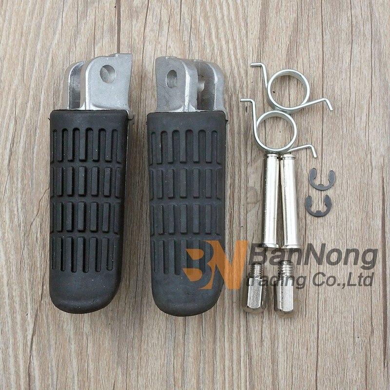 Footpegs Black Front Footrests For Honda VTR1000 1997-2003 VFR800 1998-2002 2001