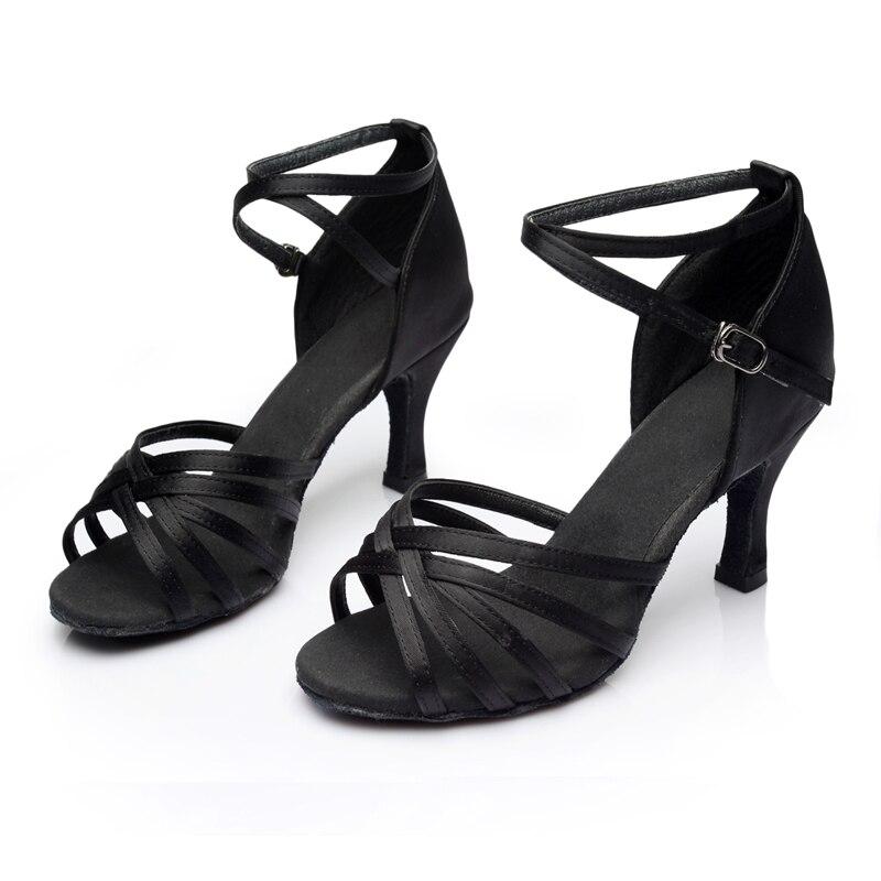 WUUQAO Brand New Women's Dance Shoes Heeled Tango Ballroom Latin Salsa Dancing Shoes For Women Hot Sales 1