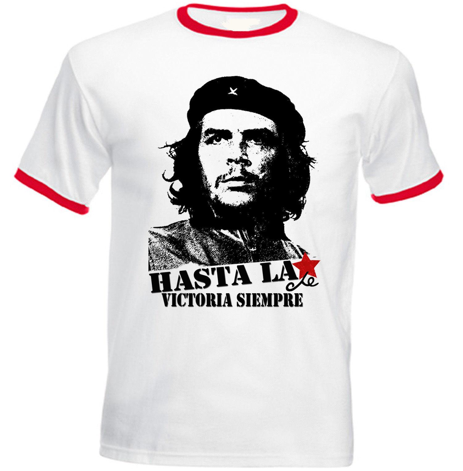 Мужские футболки, летняя стильная модная мужская футболка Swag, горячая Распродажа, CHE GUEVARA-новая хлопковая Красная футболка с кольцом, мужска...
