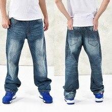 Новый Мода 2016 года мешковатые стиль Мужские джинсы в стиле хип-хоп танцоров свободные большие размеры джинсы для мальчиков скейтборд джинс...(China)