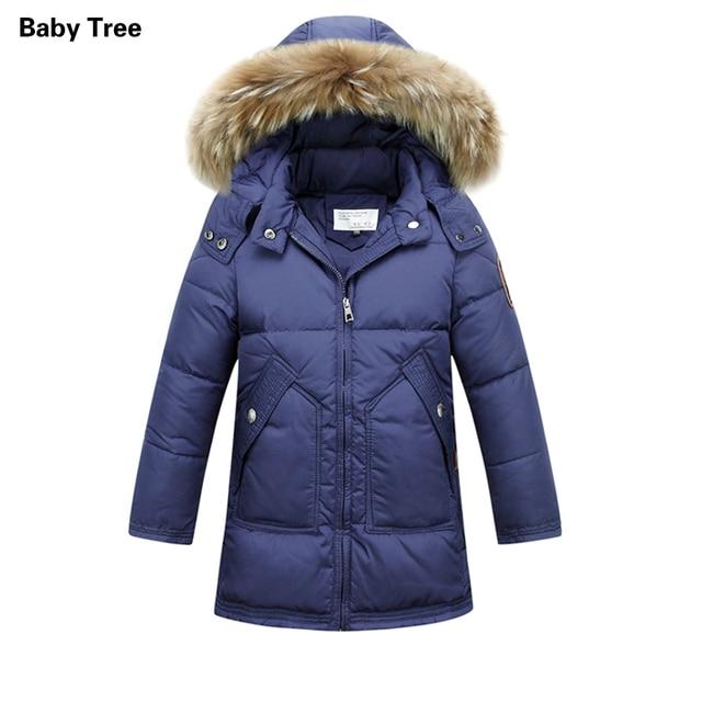 4fc830dbd3d2 Зимние куртки для мальчиков От 6 до 14 лет Пуховики на гусином пуху для  мальчиков меха