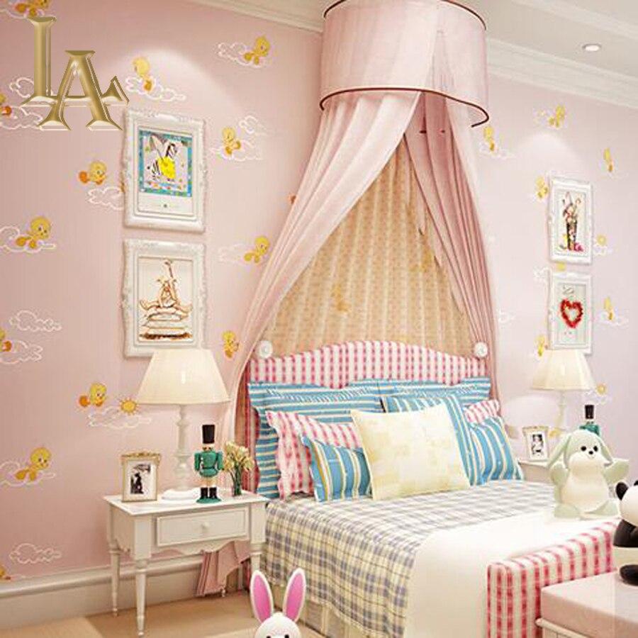Pink Bedroom Wallpaper Aliexpresscom Buy Blue Yellow Pink Cartoon Animal Kids Bedroom