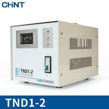 цена на CHINT Pressure Regulator TND1-2 Single-phase Household Television Computer Refrigerator Audio Power Supply Regulator