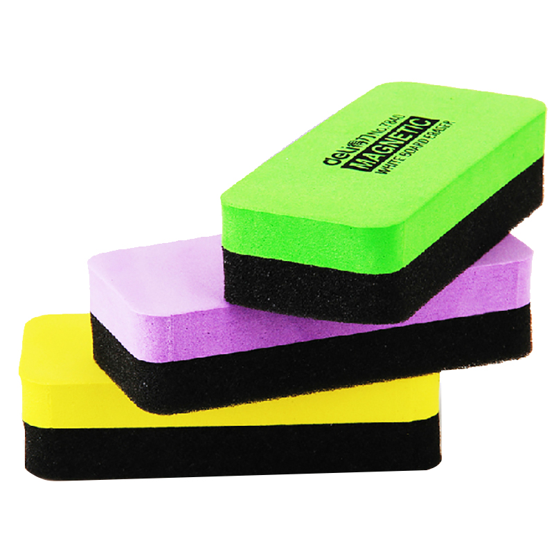 1 PCS Magnetic Sponge White Board Eraser Kawaii Markers Chalk Erasers For Felt Whiteboard Erasable Blackboard Whitebord Cleaner