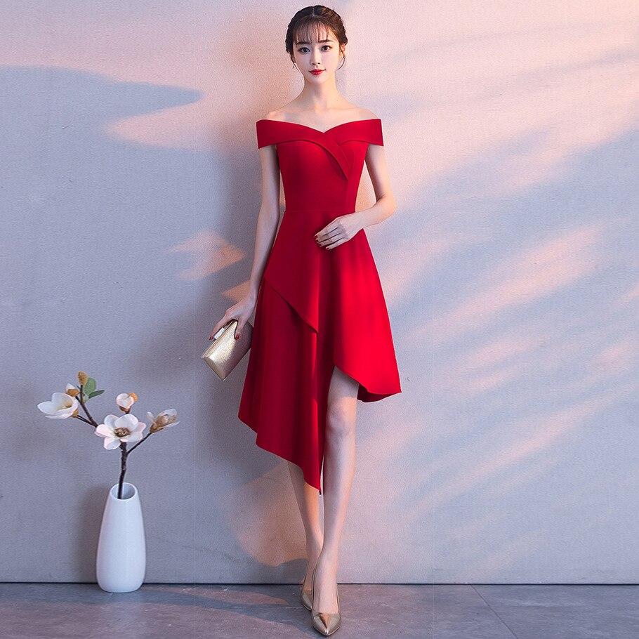 Bal Mariée L'épaule blanc marine rouge bourgogne Sexy De Wrap Femmes Long Robes Soirée D'été Noir 2018 Nuit Élégant Bleu Outre Robe QshdrtC