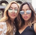 N38 2016 Novas Mulheres Flat Top óculos de Sol Olho De Gato Mulheres de Feixe Duplo óculos de Sol de Luxo Double-Deck Liga Quadro UV400