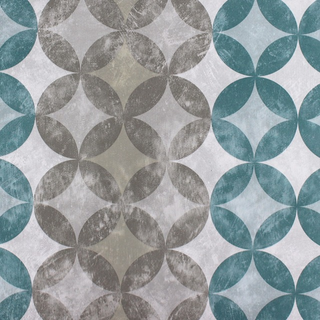 HaokHome Modern PVC Peel And Stick Wallpaper For Wall Peacock Blue Silver Pewter Self