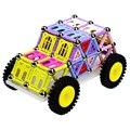 218Pcs Magnetic Rod Set Children Assembled Educational Creative Plastic Toys - Color Random